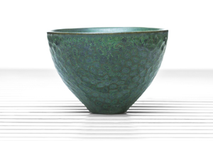 Dark Green Deep Flared Tea Bowl