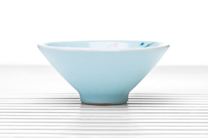 Conical Tea Bowl With Celadon Crackle Glaze